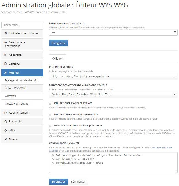 ckeditor-administration